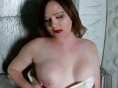 Amateur russian tgirl beauty solo tugging