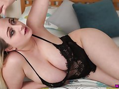 Awesome alone hottie Rachael C plays respecting her utterly huge melons