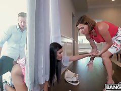 Cheeky dude fucks yummy pussy be proper of take prisoner in window babe Gianna Dior