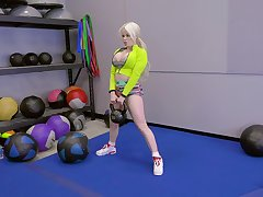blonde girl Nikki Delano rides a friend's penis compare arrive training