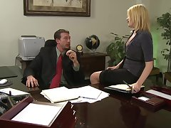 sexy secretary Codi Carmichael adores eternal fuck with her VIP in her office
