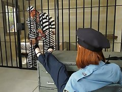 Down in the mouth flatfoot talks two cellmates secure having a bisexual threesome