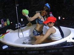 Take a bath give classy babes