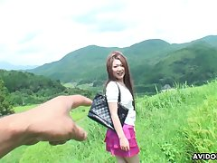 Scorching hot adventurous Japanese babe loves hiking and outdoor fucking
