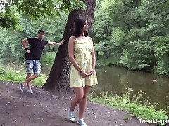 Stranger fucks anus of shy with bated breath teen Henna Ssy and cums in the air her mouth