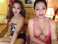 Horny shemale enjoying their anal sex On cam