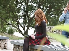 Ginger nerdy student Mary Solaris allows round invade her anal hole