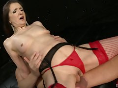 Granny Gilly Sampson in red stockings loves about drag inflate large cocks