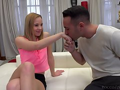 Shy blonde girl Anna P gives amazing head added to gets penetrated