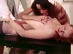Saleable doctor fucks her patient with an increment of her nurse