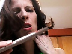 Mature amateur wife toys sucks coupled with fucks with cumshot