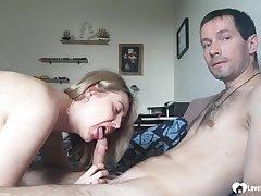 Tantalizing blondie stepmom loves blowing a knob