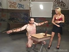 Facesitting and a blowjob are riveting with hot blonde Lexi Belle