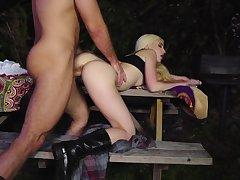 Really hot scenes of vaginal intercourse for a crestfallen ass blonde