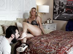 Sweet MILF India Summer fucked hard and covered with gawky cum
