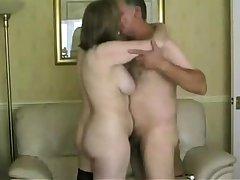 British mature amateur in stockings