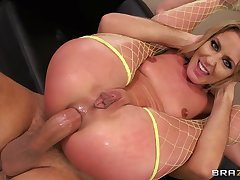 Aphoristic tits bazaar Sheena Shaw spreads her legs be worthwhile for tush fucking