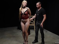 Blonde second-rate with large ass gets tied up and pleasured. HD