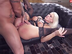 Rough stud does a number on biddable babe Blanche Bradburry