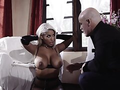 Blue fucking in the bedroom with provocative Bridgette B