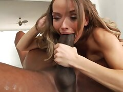 Swanky MILF is ready to ride the gigantic black cock for hours