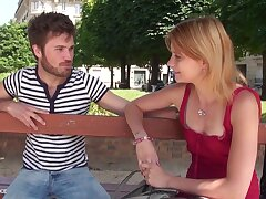1st time audition sofa of a pretty youthfull petite breasted parisian gal obtaining