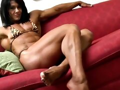Female Bodybuilder ripped glutes