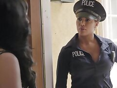 Whitney Wright sucks big clit of sexiest constable Mercedes Carrera