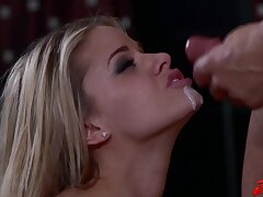 Cum in mouth after breathtaking fucking with adorable Jessa Rhodes