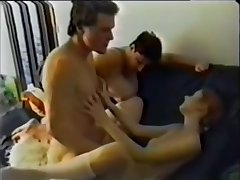 step-mom with laddie and slow-witted lass